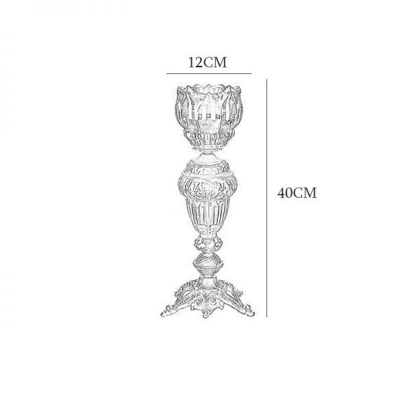 آباژور رومیزی چشمه نور مدل C2106/1A آنتیک