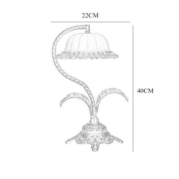 آباژور رومیزی چشمه نور مدل C2109/A برنز