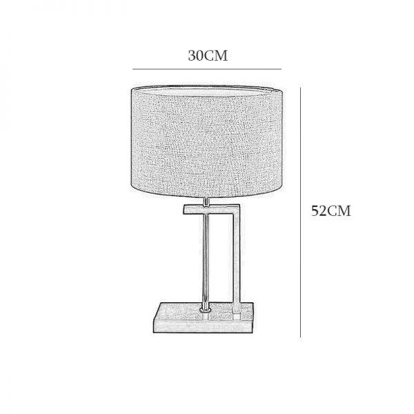 آباژور رومیزی چشمه نور مدل MT7028/BR-BR شید قهوه ای