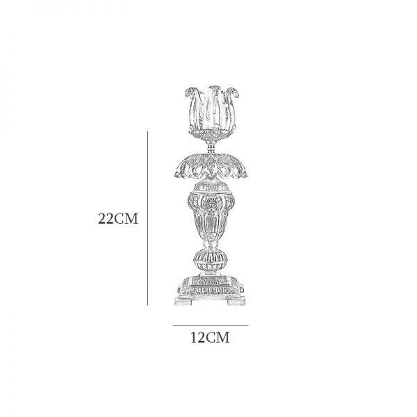 شمعدان چشمه نور مدل C2793/A برنز