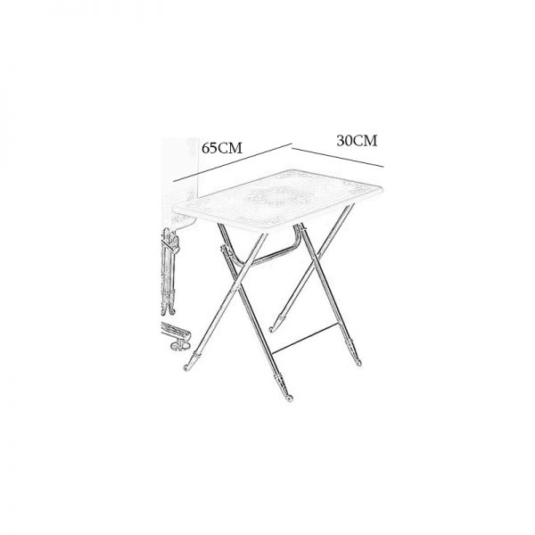 میز عسلی چوبی تاشو چشمه نور کد D-101-BR مجموعه 4 عددی قهوه ای
