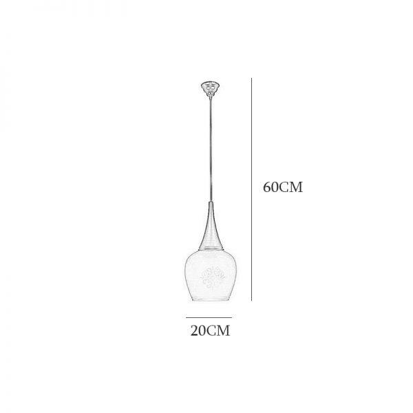 چراغ آویز فلزی و دایکاست چشمه نور 1 شعله کد G551/1H-BR قهوه ای