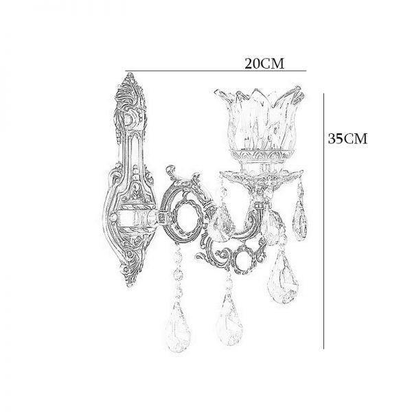 چراغ دیواری شاه عباسی برنزی چشمه نور کد C2501/1W-B برنز