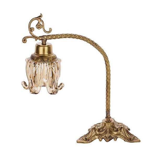 چراغ رومیزی چشمه نور کد C2762-B برنز