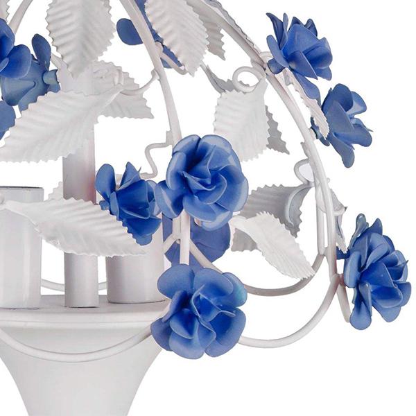 لوستر فلزی چشمه نور کد A2207/2-BL آبی
