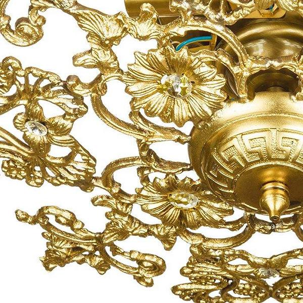 لوستر سقفی برنزی چشمه نور 5 شعله کد C2541/5-B برنز