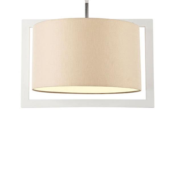 چراغ آویز چوبی چشمه نور کد A7035/1H-WT-CR شید کرم