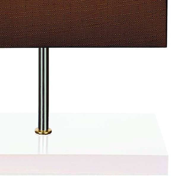 آباژور رومیزی چشمه نور مدل MT7037/WT-BR شید قهوه ای