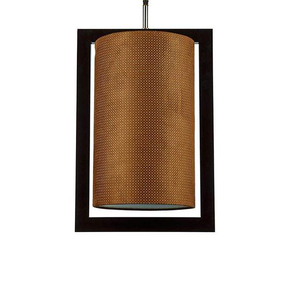 چراغ آویز چوبی چشمه نور کد A7039/1H-BR-BR قهوه ای