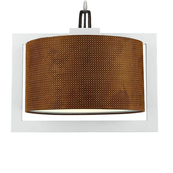 چراغ آویز چوبی چشمه نور کد A7061/1H-WT-BR قهوهای