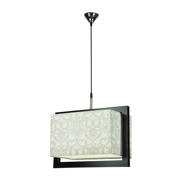 چراغ آویز چوبی چشمه نور کد A7040/1H-BR-MIX طرح دار
