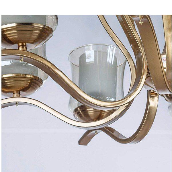 لوستر فلزی چشمه نور 5 شعله کد H2610/5A آنتیک