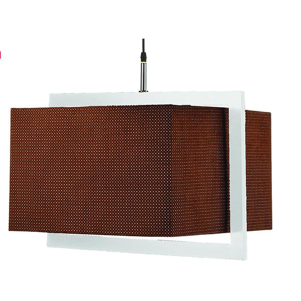 چراغ آویز چوبی چشمه نور کد A7036/1H-WT قهوهای