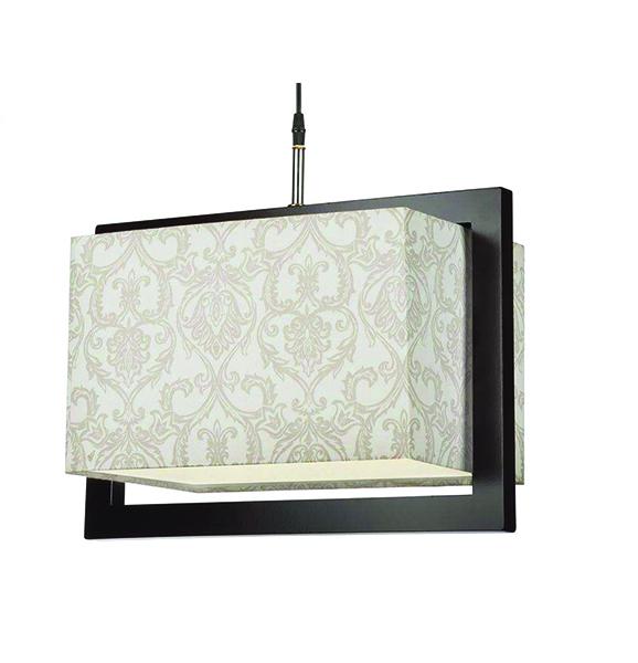 چراغ آویز چوبی چشمه نور کد A7036/1H-BR-MIX طرح دار