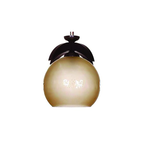 چراغ آویز چوبی چشمه نور 1 شعله کد G542/1H-BR قهوه ای