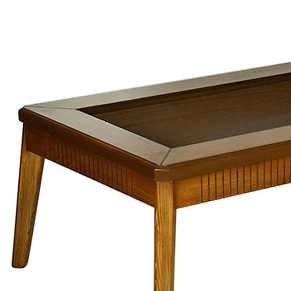 میز جلو مبلی چوبی چشمه نور کد M-218/BR قهوه ای