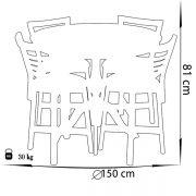 میز و صندلی ناهار خوری چشمه نور کد MA-6041/CR