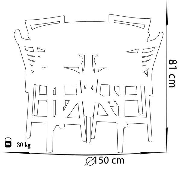 میز و صندلی ناهار خوری چوبی چشمه نور کد MA-6041-CR کرم