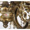 لوستر دایکاست 12 شعله چشمه نور مدل M3410/4-8-A آنتیک