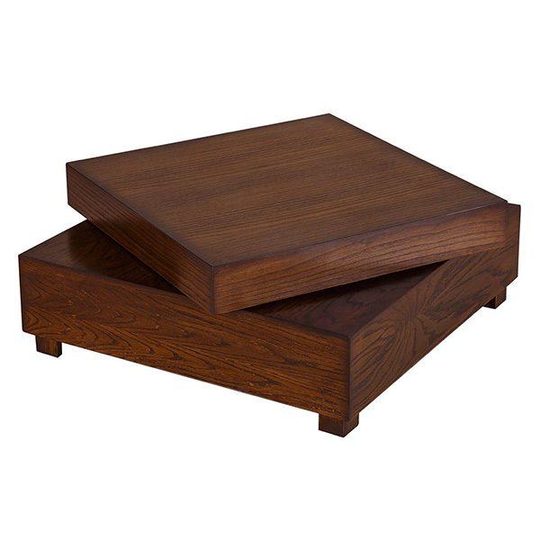 میز جلو مبلی چوبی چشمه نور کد M-201/BR قهوه ای