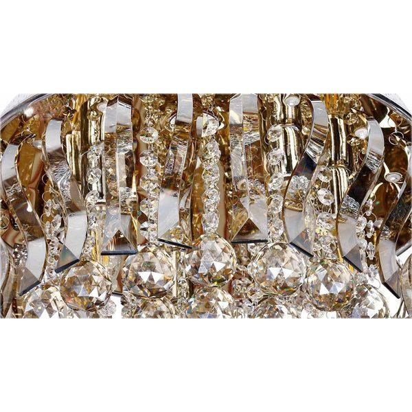 لوستر سقفی کریستالی چشمه نور کد A6638/40-S-G طلایی