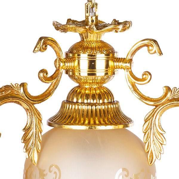 چراغ آویز برنزی چشمه نور 1 شعله کد C2514/۱H-G طلایی