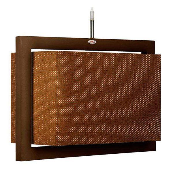 چراغ آویز چوبی چشمه نور کد A7040/1H-BR-BR قهوه ای