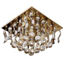 لوستر سقفی کریستالی چشمه نور کد A6638/30-30-S-G طلایی