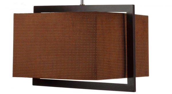 چراغ آویز چوبی چشمه نور کد A7036/1H-BR شید قهوهای