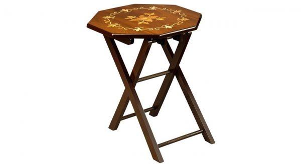 میز عسلی چوبی چشمه نور کد D-107-BR مجموعه 4 عددی قهوه ای