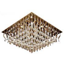 لوستر سقفی کریستالی چشمه نور کد A6638/60-60-S-G طلایی