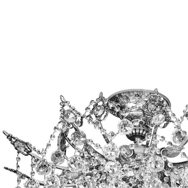 لوستر سقفی برنزی چشمه نور 15 شعله کد 2647/10G طلایی