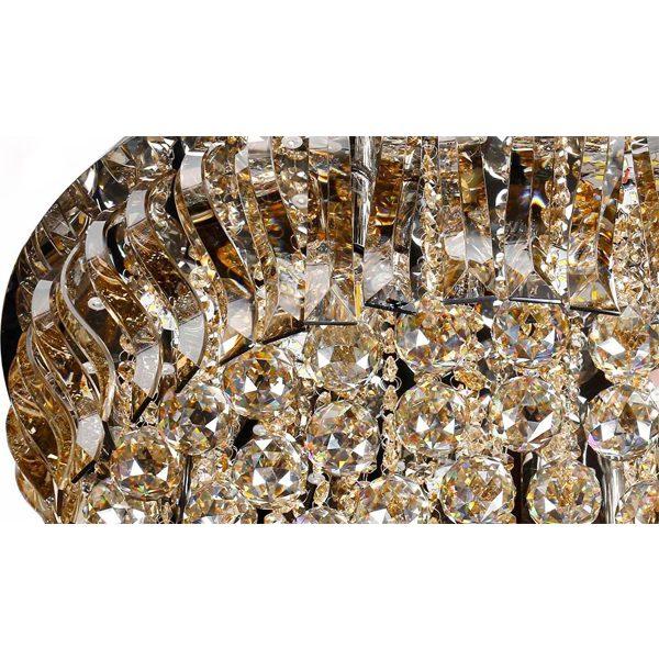 لوستر سقفی کریستالی چشمه نور کد A6638/60-S-G طلایی