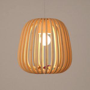 لوستر چوبی تک لامپ