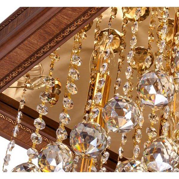 لوستر سقفی کریستالی چشمه نور کد 6674G طلایی