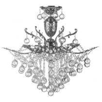 لوستر کریستالی چشمه نور 9 شعله کد H6646/6C کروم