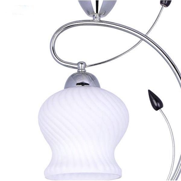 چراغ آویز فلزی و دایکاست چشمه نور 1 شعله A602/1C کروم