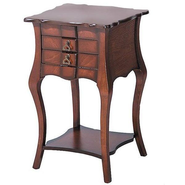 میز تلفن چوبی چشمه نور کد A-121-BR قهوه ای