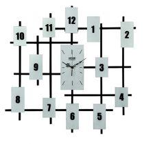 ساعت دیواری چشمه نور مدل V001-WT سفید