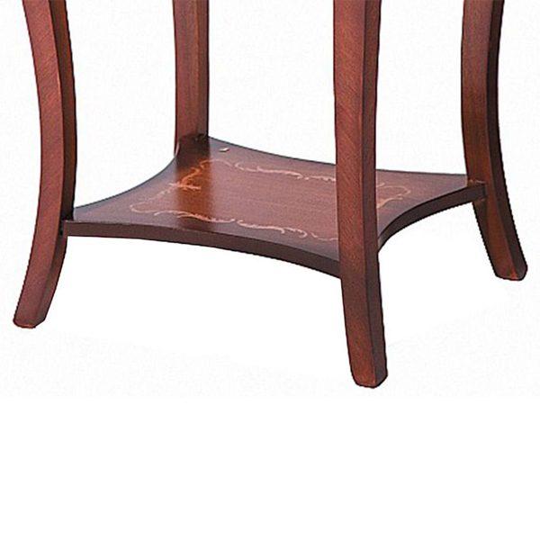 میز تلفن چوبی چشمه نور کد A-120-BR قهوه ای
