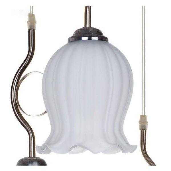 چراغ آویز چشمه نور 3 شعله کد 1263/3H-C کروم