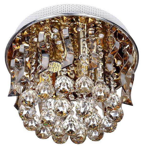 لوستر سقفی کریستالی چشمه نور کد A6638/30-S-G طلایی