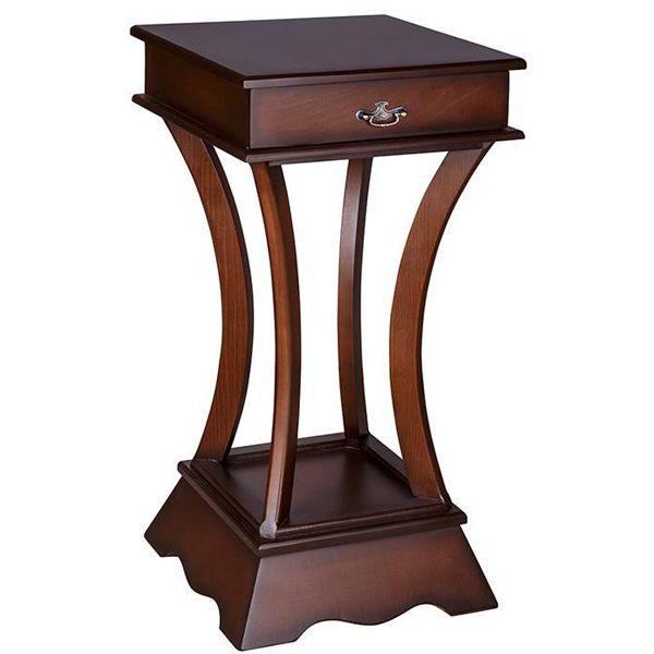 میز تلفن چوبی چشمه نور کد A-101-BR قهوه ای