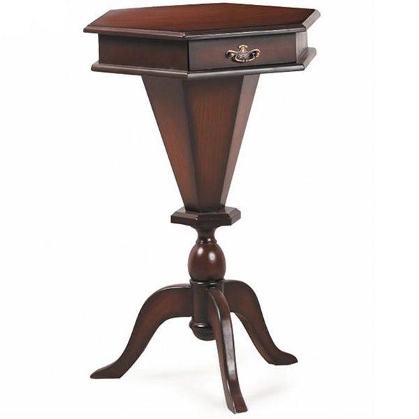 میز تلفن چوبی چشمه نور کد A-109-BR قهوه ای