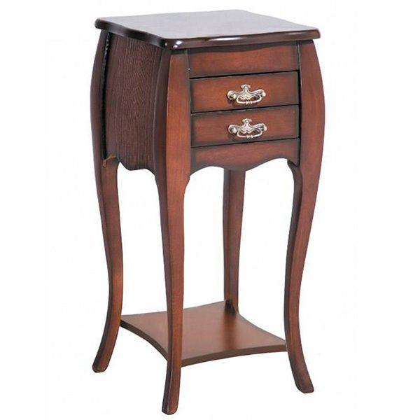 میز تلفن چوبی چشمه نور کد A-116-BR قهوه ای
