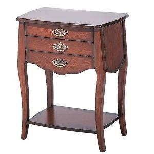 میز تلفن چوبی چشمه نور کد A-122-BR قهوه ای
