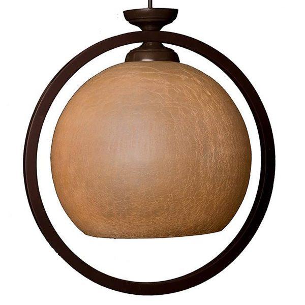 چراغ آویز چوبی چشمه نور 1 شعله کد 516/1H-BR قهوه ای