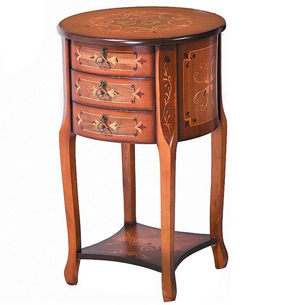 میز تلفن چوبی چشمه نور کد A-119-BR قهوه ای