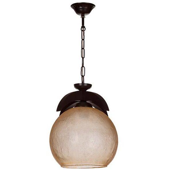 چراغ آویز چوبی چشمه نور 1 شعله کد G507/1-BR قهوه ای