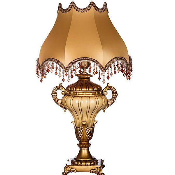 آباژور رومیزی چشمه نور مدل MT7116/BZ-BZ طلایی